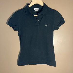 Lacoste black polo short sleeves